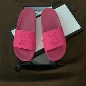Gucci Shoes - Pink Gucci Slides